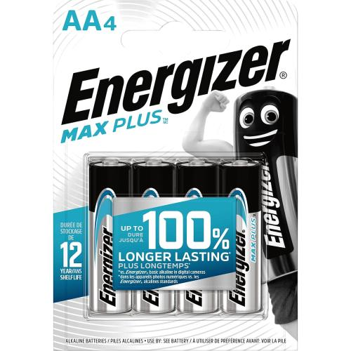 Energizer Max Plus AA 4s 4 Pack