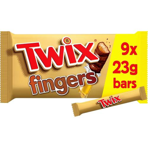 Twix Chocolate Biscuit Fingers Multipack 9x 207g