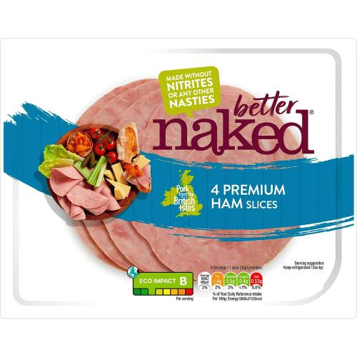 Finnebrogue Naked 4 Outdoor Bred Ham Slices 120g