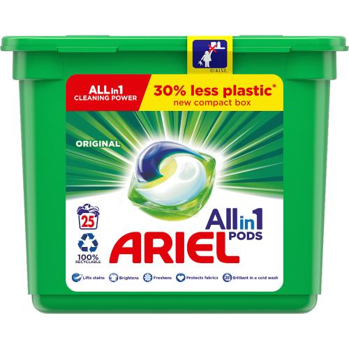 Ariel Original 3 In 1 Pods 25 Washes 630g