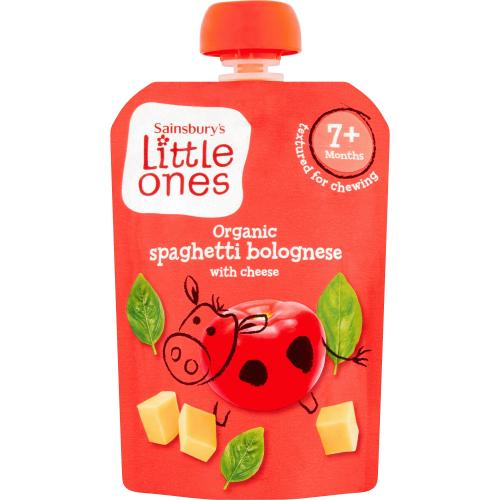 Sainsbury's Little Ones Organic Spaghetti Bolognese with Cheese 7+ Months