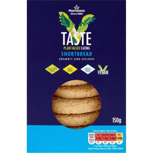 Morrisons Free From Vegan Scottish Shortbread 150g