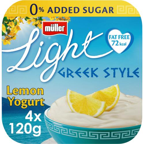 Light Greek Style Luscious Lemon Yogurt