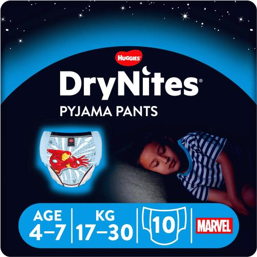 Huggies Dry Nites for Boys 4-7years 10 Pack
