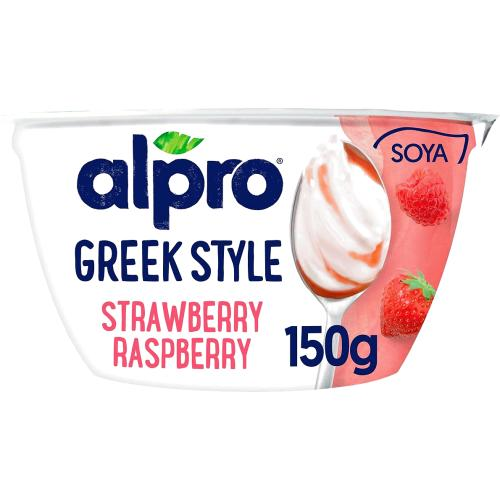 Alpro Go On Strawberry And Raspberry Soya 150g