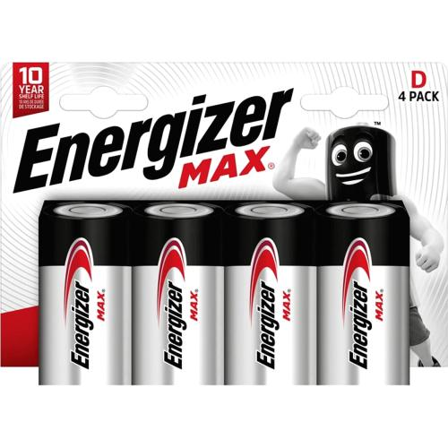 Energizer Max Alkaline Cell Battery D LR20 4 Pack 4 Pack