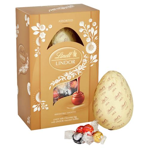 Milk Chocolate Easter Egg with LINDOR Assorted Truffles