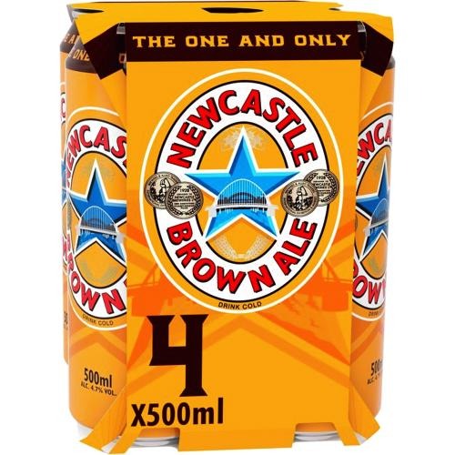 Newcastle Brown Ale 4x Cans 4 x 500