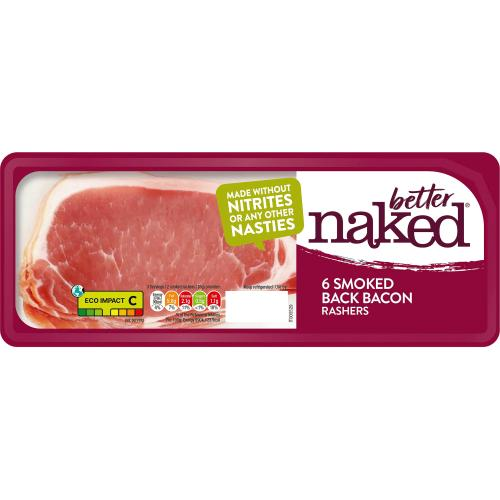 Finnebrogue Smoked 6 Naked Back Bacon 200g