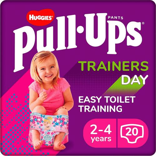 Pull-Ups Trainers Day Girl Size 2-4 Years Nappy Size 5-6+ 20 BIG KID Training Pants