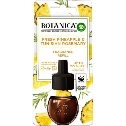 Botanica by Air Wick Electrical Plug In 1 Refill, Fresh Pineapple and Tunisian Rosemary 19ml