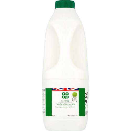 Co-op Filtered Fresh Semi-Skimmed Milk (2l)