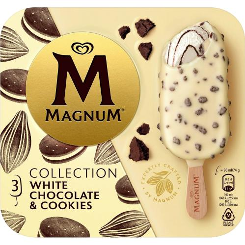 Magnum White Chocolate & Cookies Ice Cream 3x 90ml