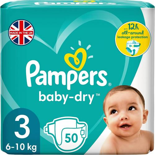 Pampers Baby Dry Size 3 Essential Pack 50 Nappies 50 Pack