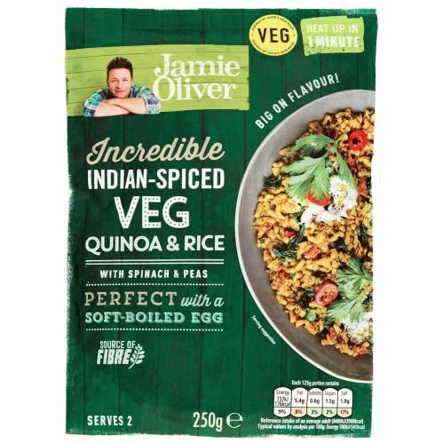 Jamie Oliver Indian-Spiced Veg Quinoa & Rice 250g
