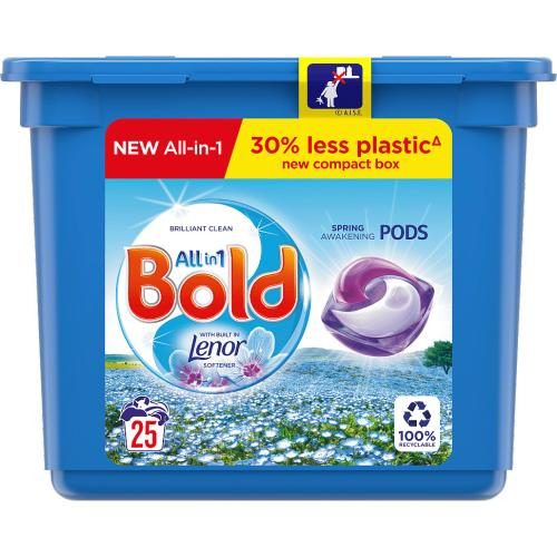 Bold All-in-1 Pods Washing Liquid Capsules Spring Awakening 25 Washes 25 Pack