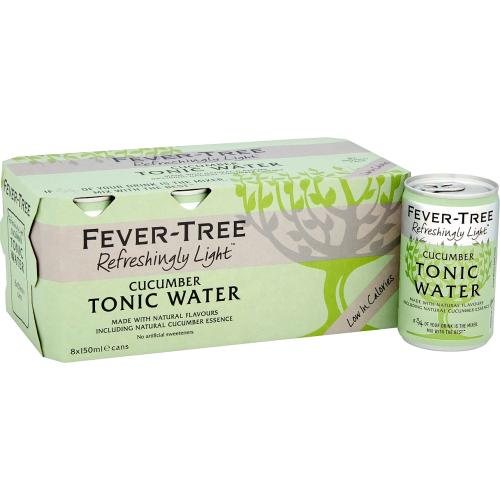 Fever-Tree Refreshingly Light Cucumber Tonic Water 8x 8 x 150ml