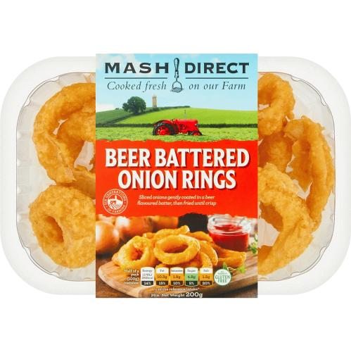 Mash Direct Beer Battered Onion Rings 200g