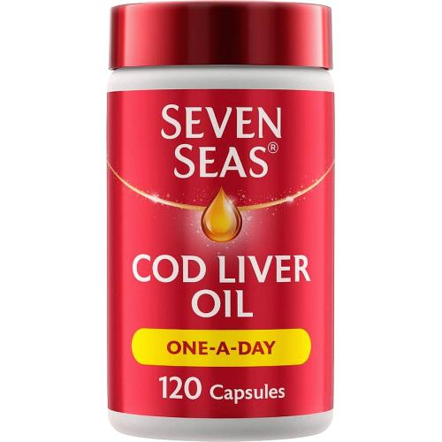 Seven Seas 1 a Day Cod Liver Oil Capsules x 120 120 Pack