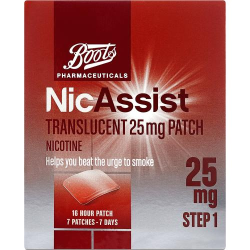 Boots NicAssist Translucent 25mg Patch Step 1 (7 Patches)