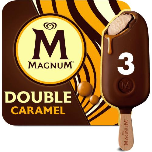Magnum Double Caramel Ice Cream 3x 3 x 88ml