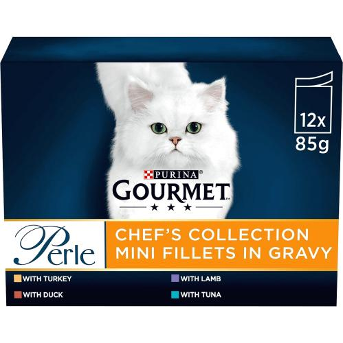 Gourmet Perle Cat Food Chefs Collection Mixed 12x 85g