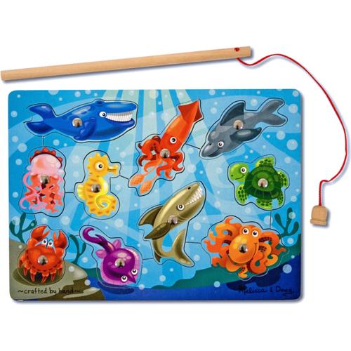 Magnetic Wooden Game Fishing 3yrs+