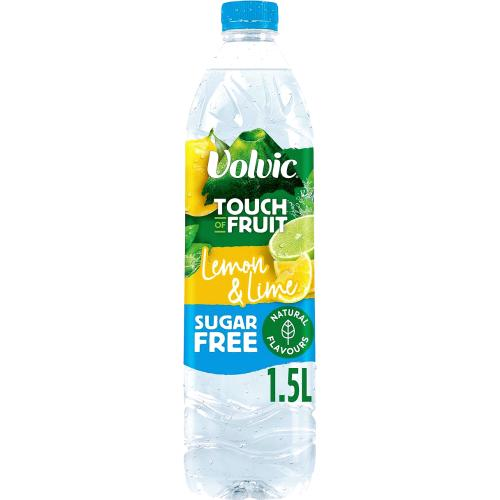 Volvic Touch of Fruit Sugar Free Lemon & Lime Natural Flavoured Water 1.5 litre
