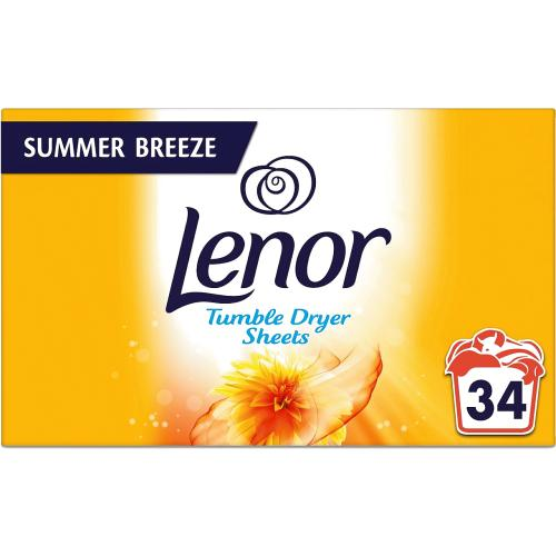 Lenor Tumble Dryer Sheets, Summer Breeze x 34 34 Pack