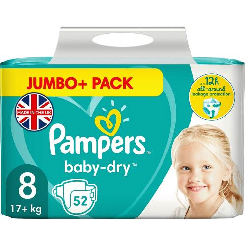 Baby-Dry Size 8 17+kg 52 Nappies
