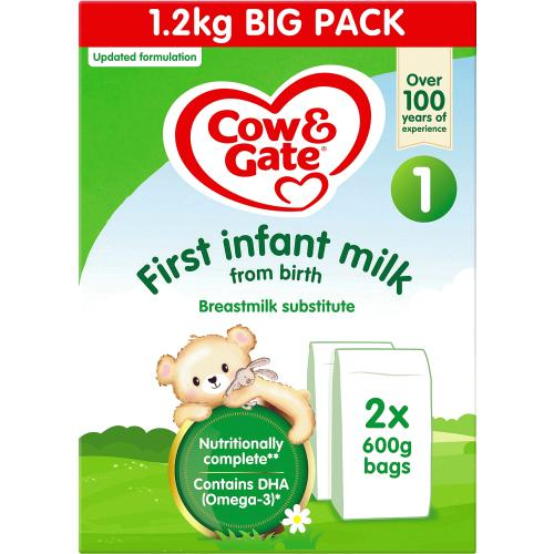 Cow & Gate 1 First Baby Milk Formula From Birth Big Pack 1.2kg