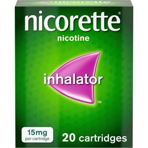 Nicorette 15mg Nicotine Inhalator Cartridges 20 Pack