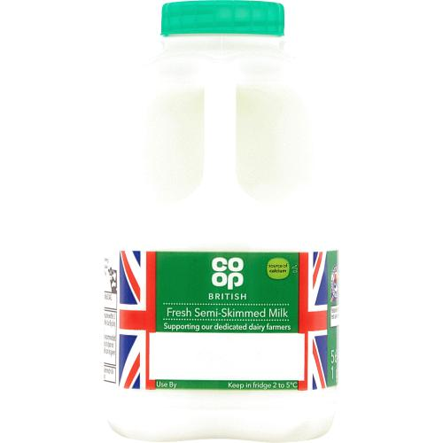 British Fresh Semi-Skimmed Milk