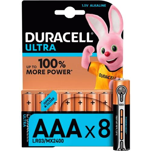 Duracell Ultra AAA Batteries 8 Pack 8 Pack