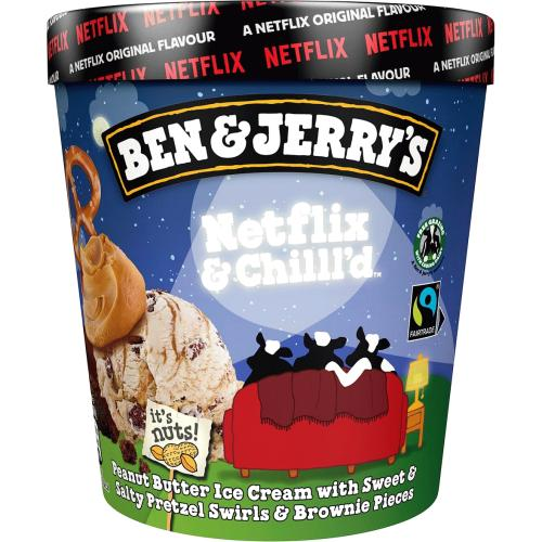 Ben & Jerry's Netflix & Chilll'd Ice Cream 465ml