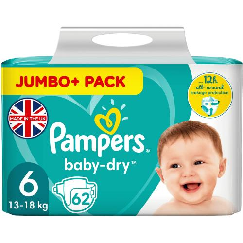 Pampers Baby-Dry Nappies Size 6 13-18kg