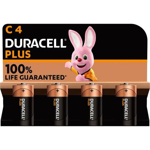 Duracell Plus C 4 Pack 4 Pack