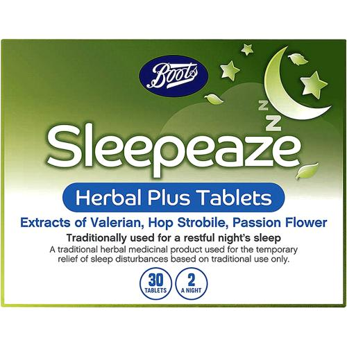 Boots Sleepeaze Herbal Plus Tablets - 30 Tablets