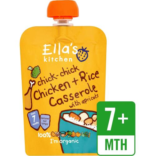 Ella's Kitchen Organic Chicken and Rice Casserole Baby Pouch 7+ Months 130g