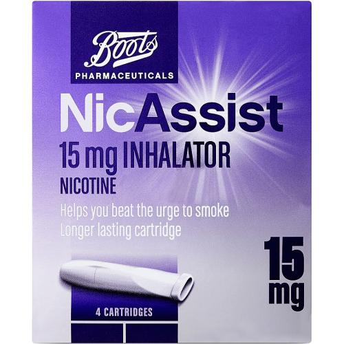 Boots NicAssist Inhalator 15mg 4 cartridges