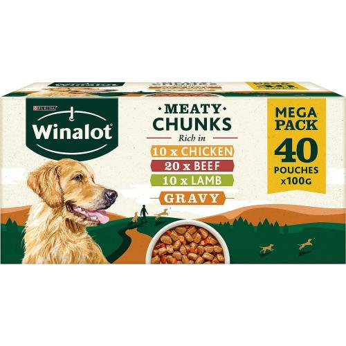 Winalot Perfect Portions Dog Food Chunks in Jelly Beef 40x 100g