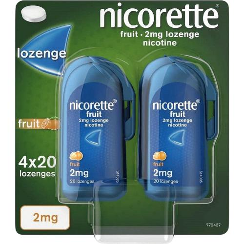 Nicorette Fruit Lozenge 2Mg 80'S