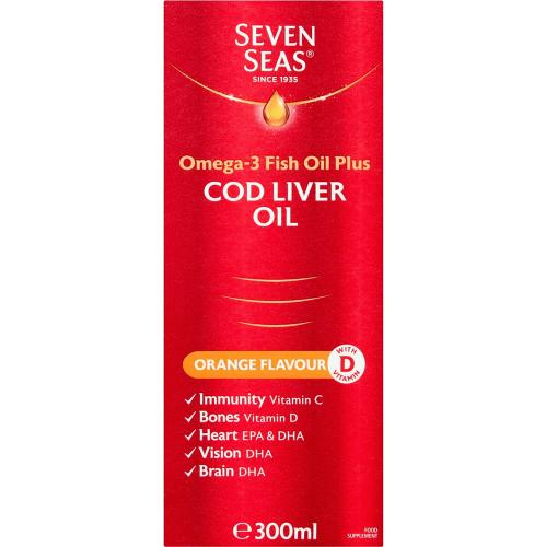 Seven Seas Simply Timeless Omega-3 Fish Oil Plus Cod Liver Oil 300ml