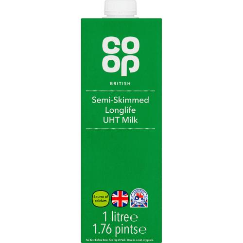 British Semi-Skimmed Longlife UHT Milk