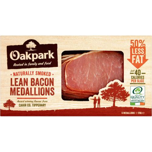 Oakpark Smoked Bacon Medallions 6 Pack 170g
