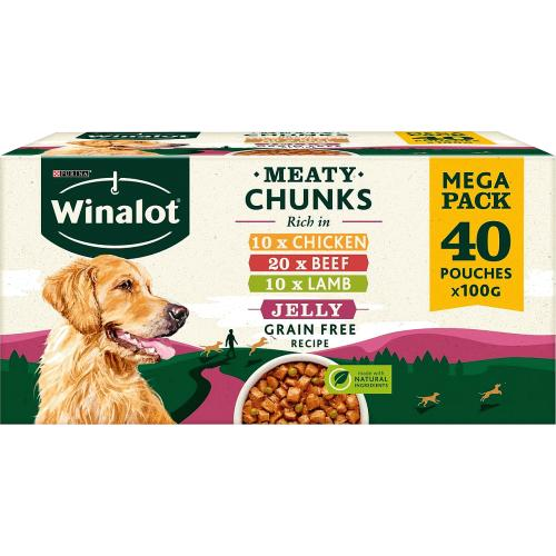 Winalot Meaty Chunks In Jelly Dog Food 40x 100g