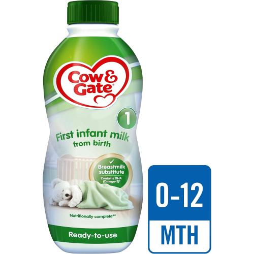 Cow & Gate 1 First Baby Milk Formula From Birth 1l