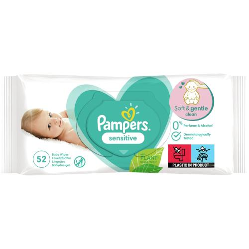 Pampers Sensitive Baby Wipes 304g