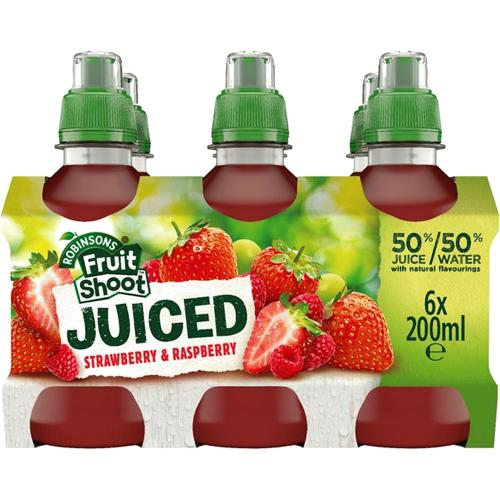 Fruit Shoot Juiced Strawberry & Raspberry Kids Juice Drink 200ml