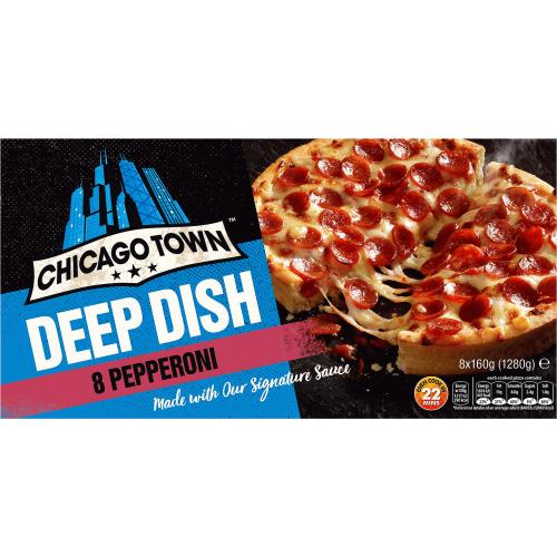 Chicago Town Deep Dish Pepperoni Pizzas 8x (1280g) 160g